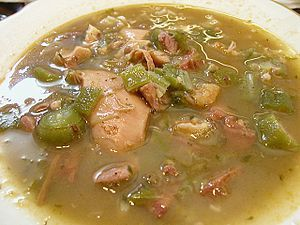 I just found my recipe for our Christmas Gumbo this year! It's real Cajun food and gluten-free!