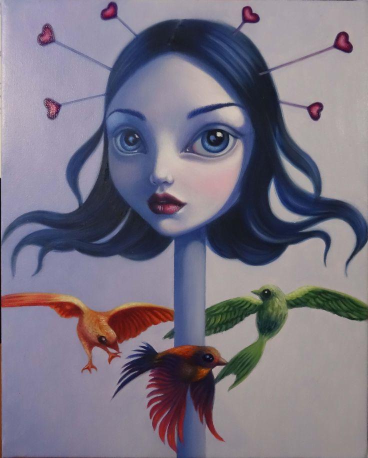 La Giostra, oil on canvas