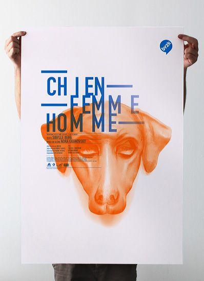Les produits de l'épicierie, design graphique, Chien Femme Homme, Cie BVZK