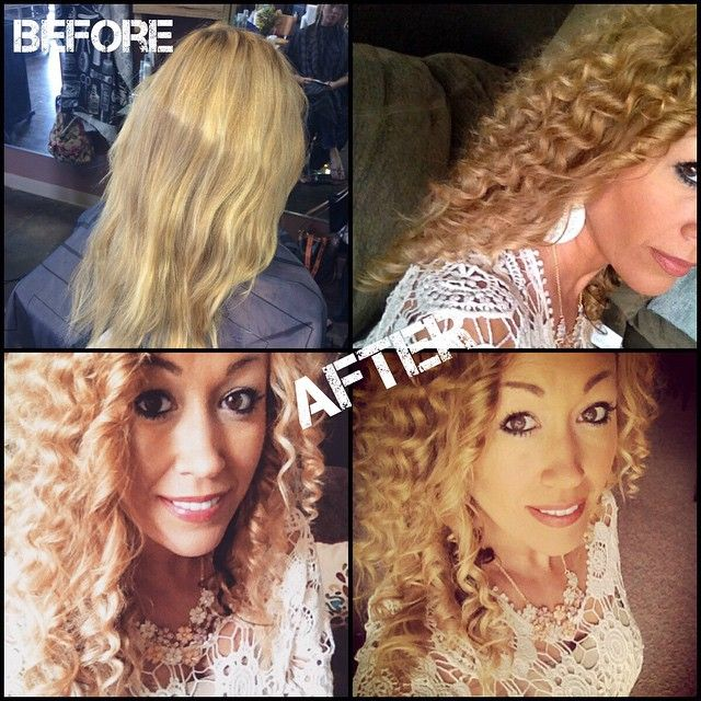 #mulpix Before and after by me of pencil curls on this lovely lady! It's like a temporary perm without the harsh damage starts at $45 #urbanmodesalon #hair #curly