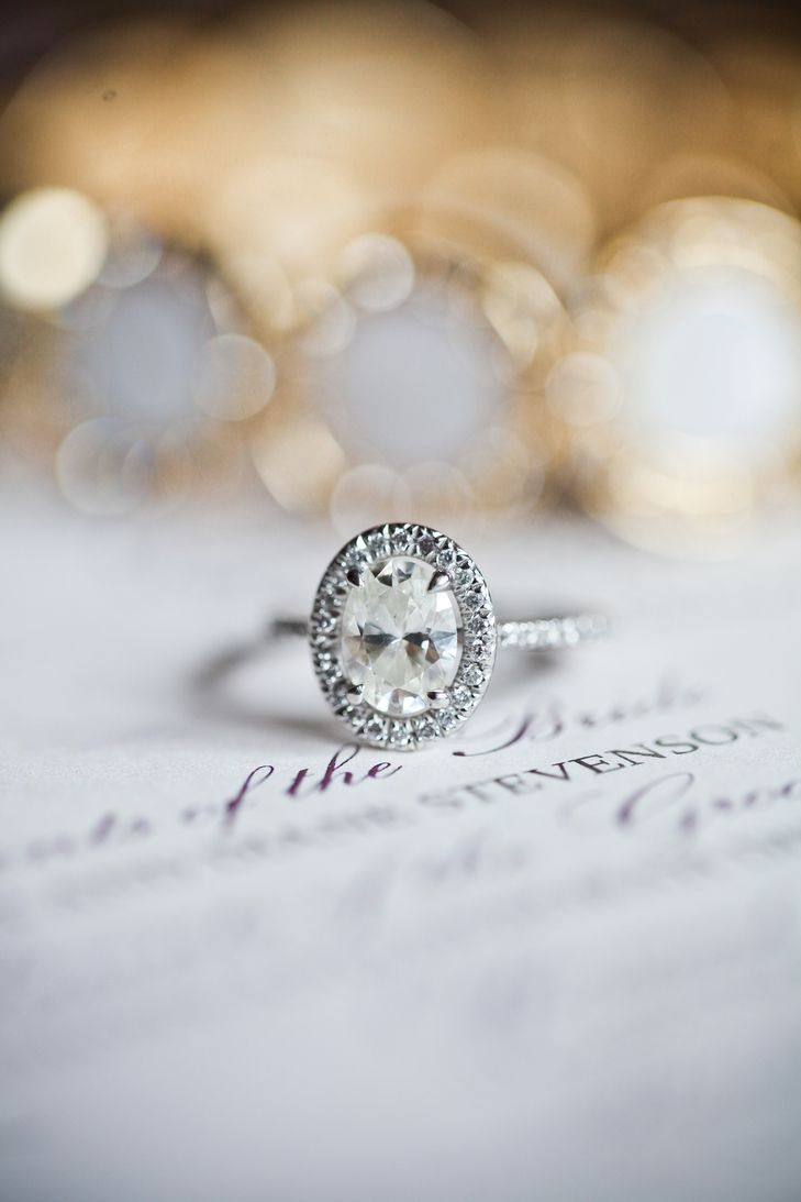 Oval Diamond Engagement Ring with Halo