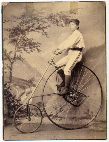 C 1880 Big Imperial Cab Photo Bike Club Boy on American Star High Wheel Bicycle | eBay
