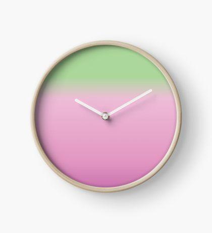 Blended Pink & Green  Clock