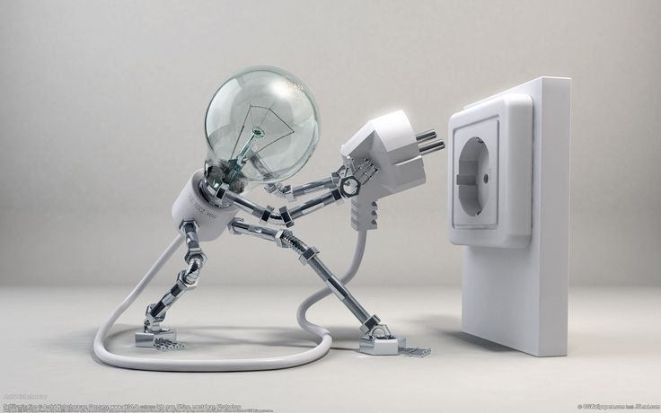 plug light bulbs photomanipulations  / 1920x1200 Wallpaper