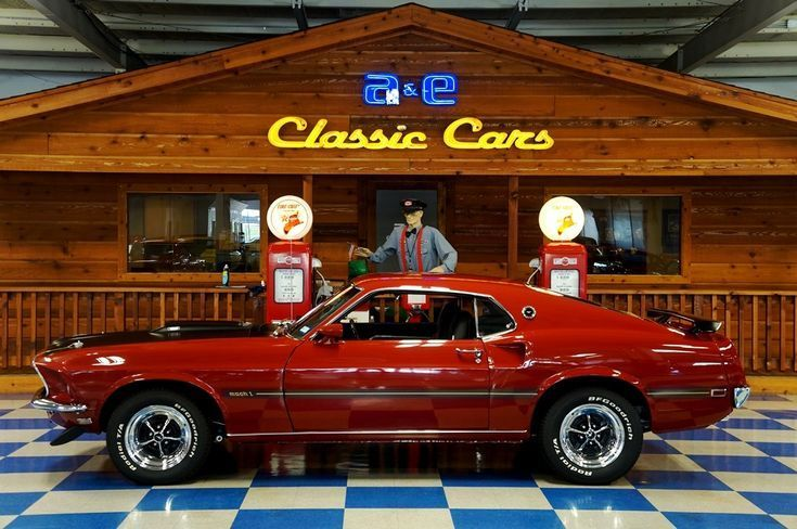 1969 Ford Mustang Mach 1 Red Black A E Classic Cars Ae