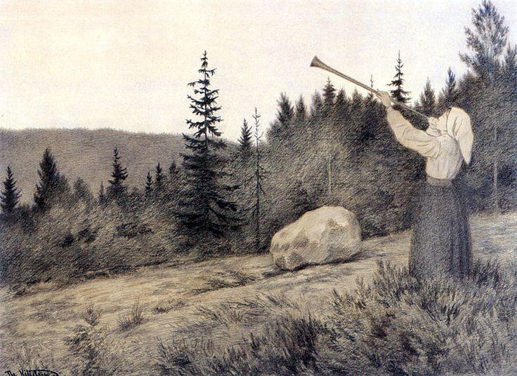 Op under Fjeldet toner en Lur - Theodor Kittelsen - Wikipedia, the free…