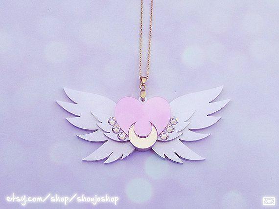 SAILOR MOON Eternal Sailor Moon Brooch Necklace by ShoujoShop, $27.20