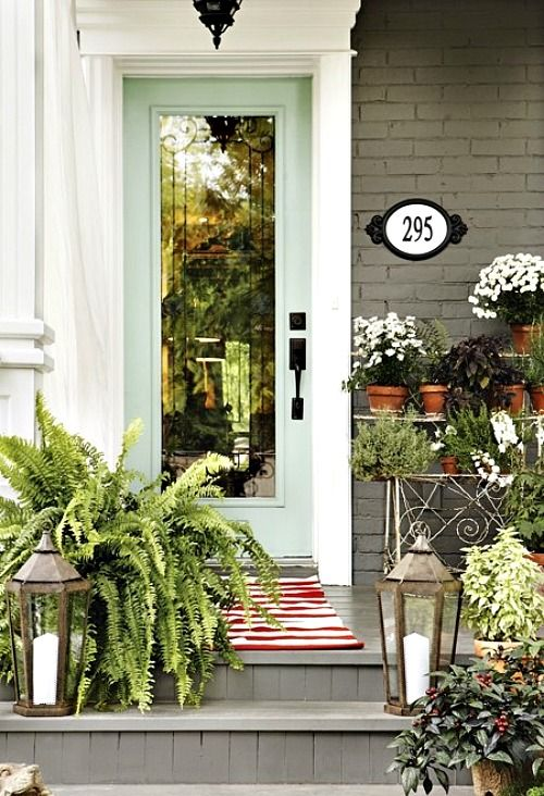 Eight Ways to Style Your Stoop - attractive house numbers that can be seen from the curb