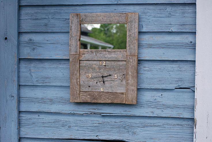 Les 25 meilleures id es de la cat gorie horloges de bois for Miroir bois de grange