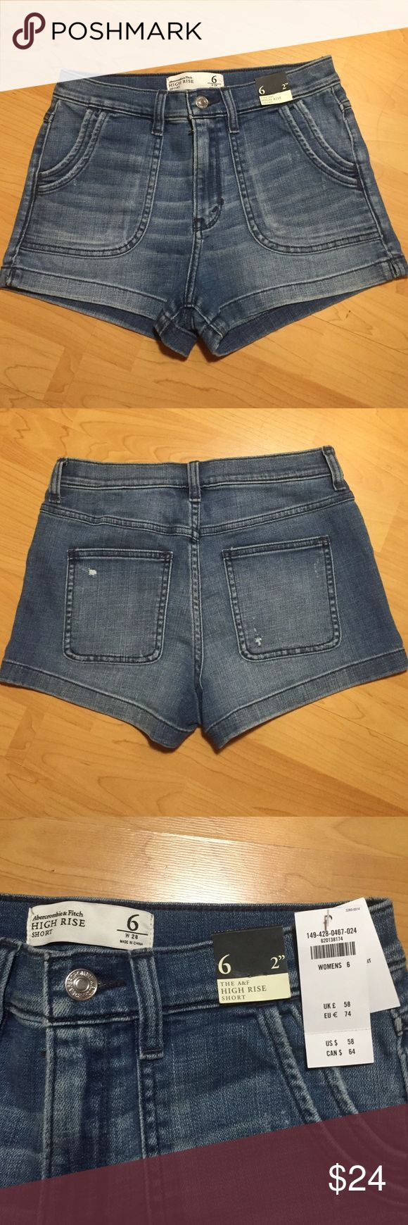 High waisted Abercrombie and Fitch shorts! NWT! These high waisted shorts make a great gift! New with tags! Abercrombie & Fitch Shorts Jean Shorts