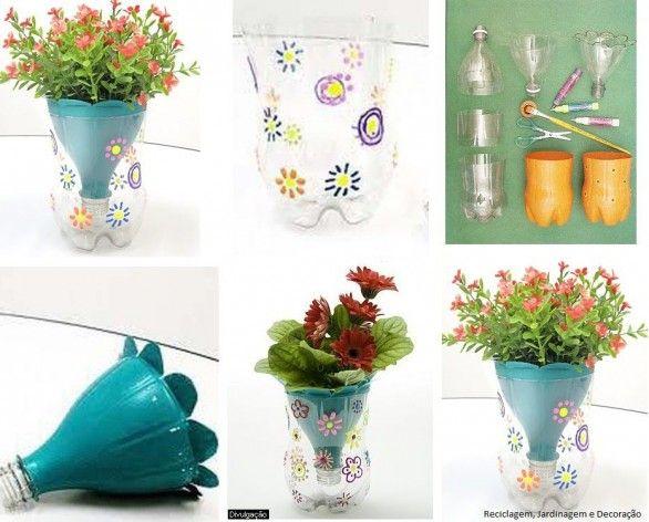 DIY Decoração: como fazer um vaso anti-dengue com garrafa pet