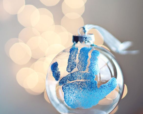 baby hand ornament