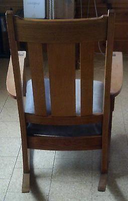 Vintage Arts Crafts Antique Mission Design Oak Rocking Chair | eBay