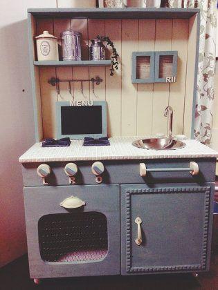 2才の誕生日にままごとキッチン DIY DIY