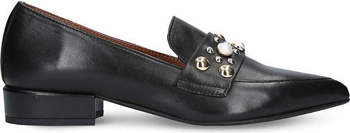 Carvela Lily leather embellished loafers