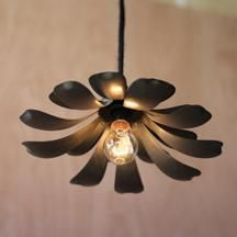 Raw Metal Flower One Light Pendant Kalalou Other Pendant Lighting Ceilingu2026 & 49 best Pendant Lighting and Floor Lamps images on Pinterest ... azcodes.com