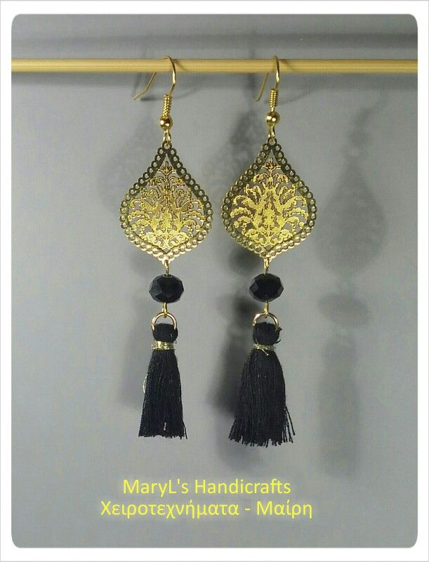 Earrings. Find it on Facebook : MaryL's Handicrafts