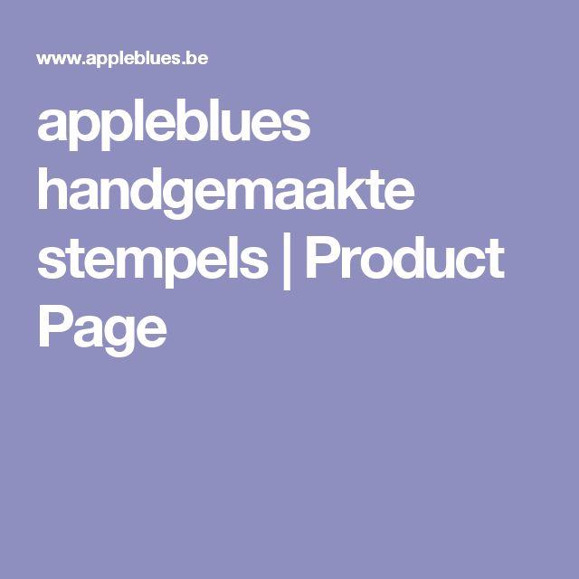 appleblues handgemaakte stempels | Product Page