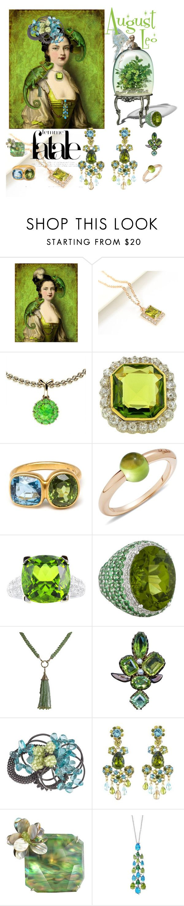 """""""August Leo's Month"""" by rosalindmarshall ❤ liked on Polyvore featuring Color My Life, Marie Hélène de Taillac, Pomellato, Marina J., Oscar de la Renta and Effy Jewelry"""
