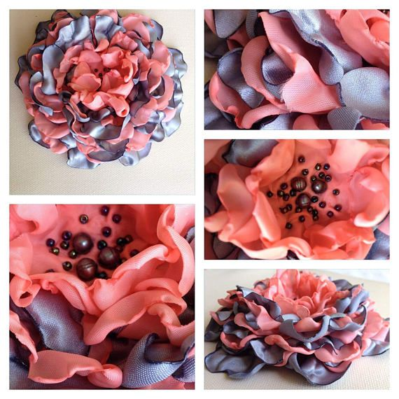 Check out this item in my Etsy shop https://www.etsy.com/ca/listing/560444311/organza-and-satin-handmade-flower-brooch