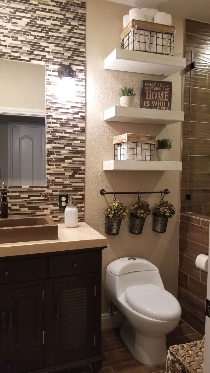 Pin By Lucy Flores On Home Brown Bathroom Decor Western