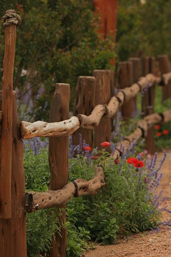 Rustic fence...I love this