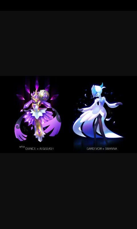 Legendary Pokemon Background Mega Diancie+Aegislash...