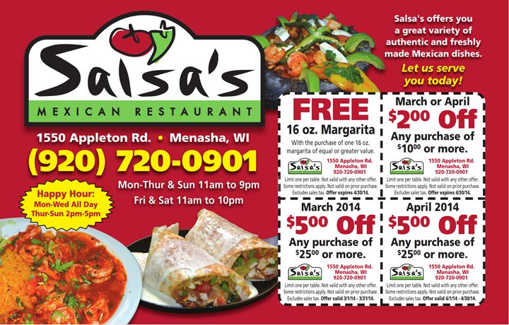 Printable Restaurant Coupons & Fast Food Coupons
