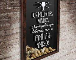 Quadro p/ Rolhas - Família Amigos 37x52