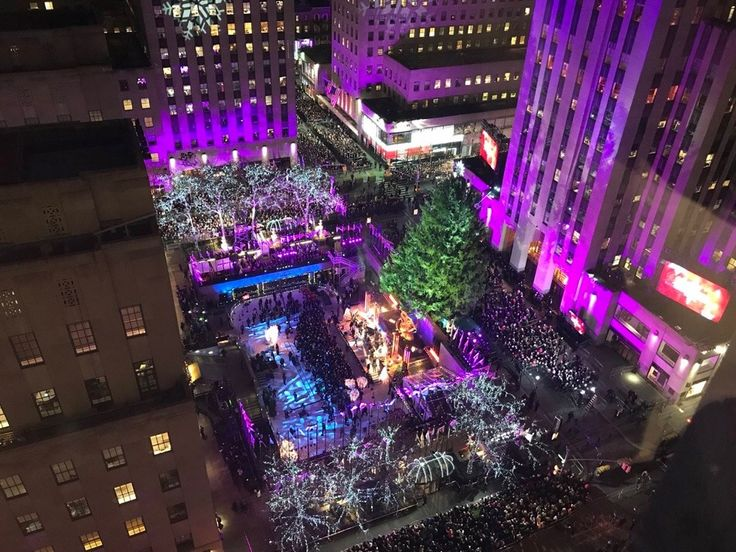 Rockefeller Center Tree Lighting 2017 by newyorkcityfeelings.com - The Best Photos and Videos of New York City including the Statue of Liberty Brooklyn Bridge Central Park Empire State Building Chrysler Building and other popular New York places and attractions.