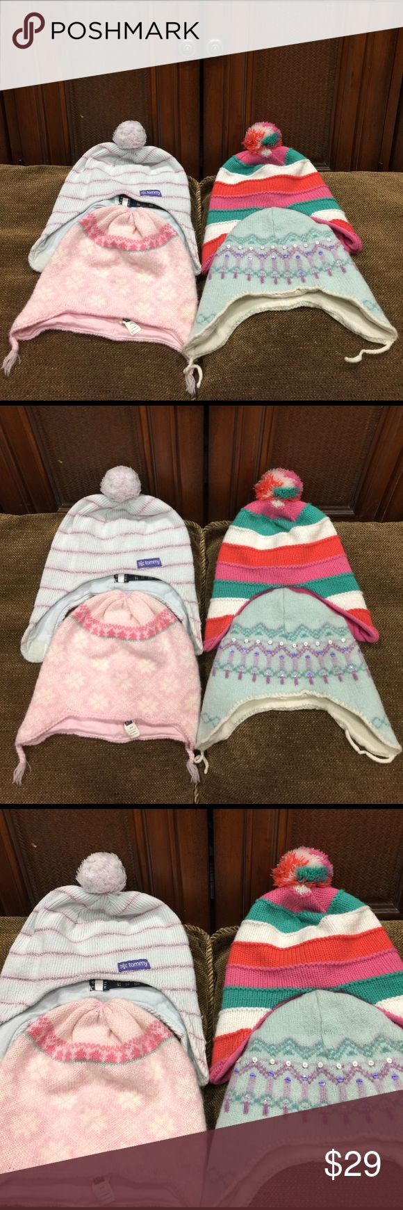 👶❤️🌈 BABY HAT FROM TOMMY HILFIGER-GAP-ROYAL 👶❤️🌈 BABY HAT OR BEANIE . 1 OF THEM IS FROM TOMMY HILIFIGER , 2 OF THEM ARE FROM GAP , ANOTHER 1 IS FROM ROYAL . THEY ALL HAVE BEEN USED BUT ARE IN VERY GOOD CONDITION . ALSO THEY ARE FROM SIZE 3 - 5  FOR KIDS . 👀🤔🤑 TOMMY HILFIGER Accessories Hats