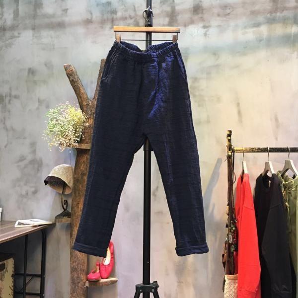 Japan Fashion Cotton Linen Pants Plain Cheap Pants Online  #linen #pants #cheap #linen #Japan #cotton #dark-colored #trousers #elastic