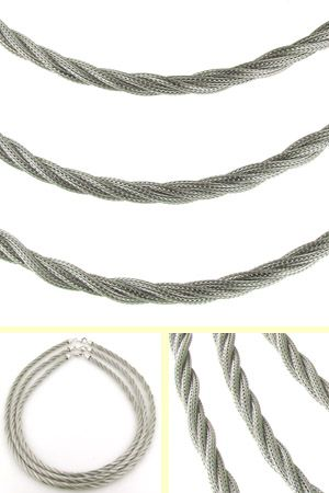 7mm Sterling Silver Twisted Mesh Rope Chain