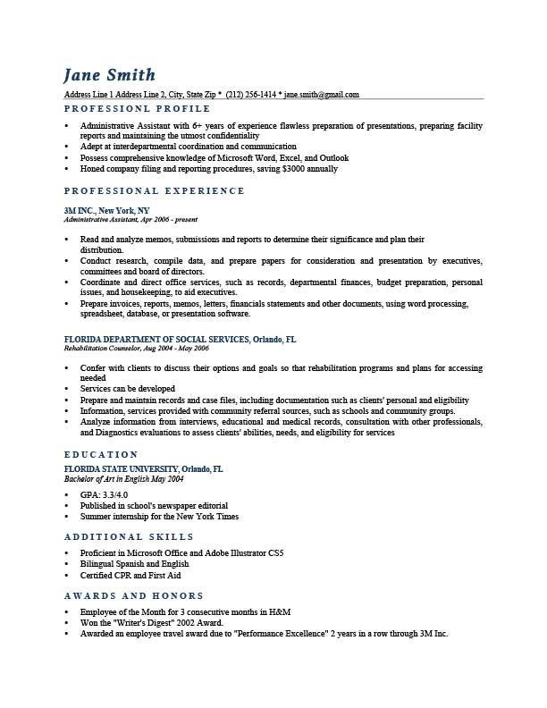 resume template washington dark blue
