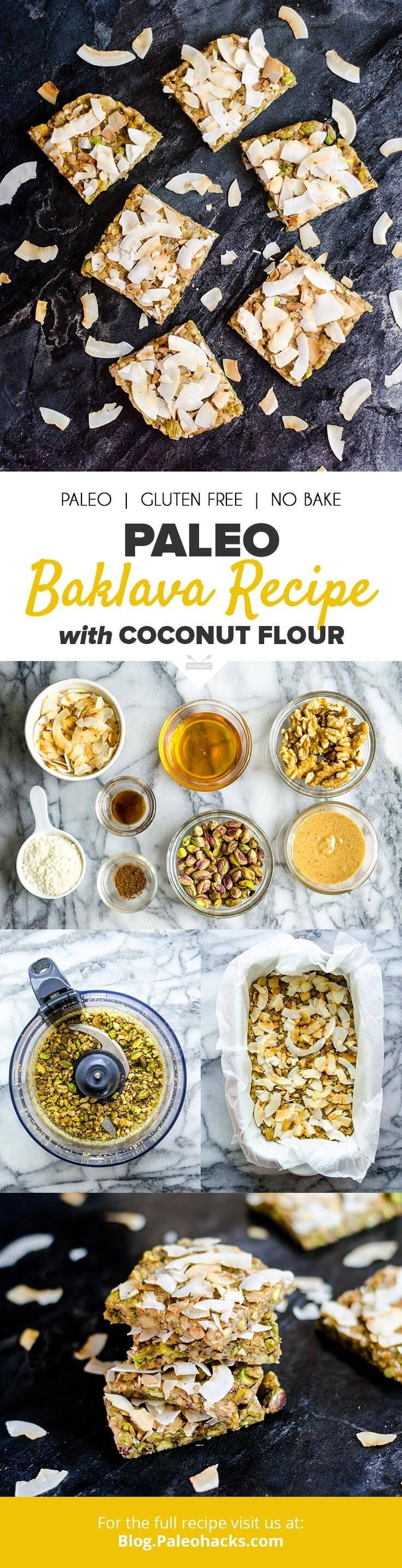 For a Paleo twist on baklava, this zero-baking recipe delivers pistachios, walnuts, honey and hazelnut butter all in one decadent bite. Get the recipe here: http://paleo.co/baklavarcp
