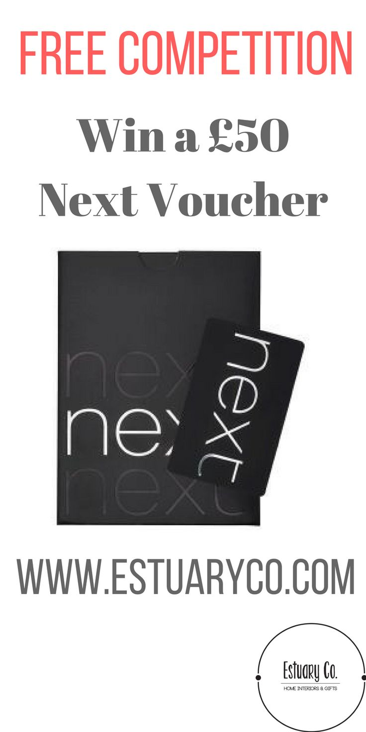 Free competition to win a £50 next voucher. Head to our website for details.