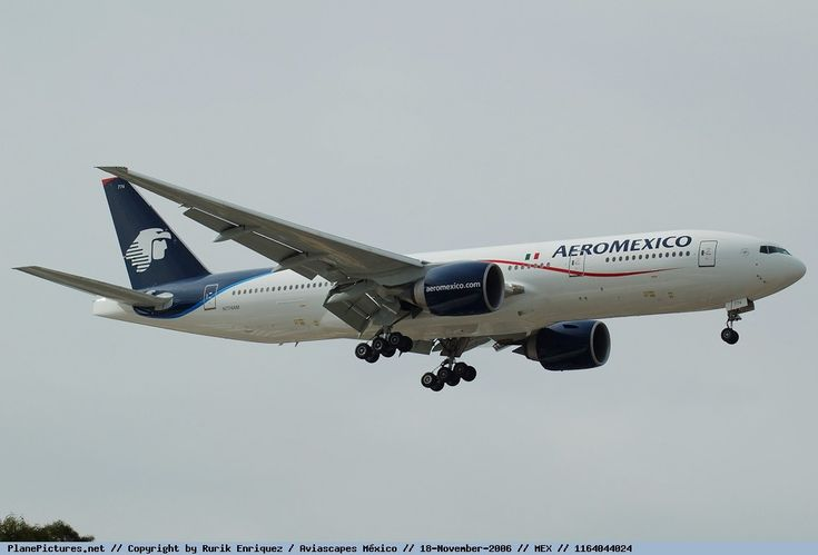 AeroMexico's  New  Boeing  777-2Q8 ER  N774AM  On  Finals  Arriving  In  MEX From China 18th  November 2006