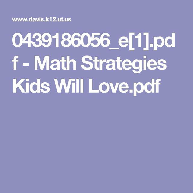 0439186056_e[1].pdf - Math Strategies Kids Will Love.pdf