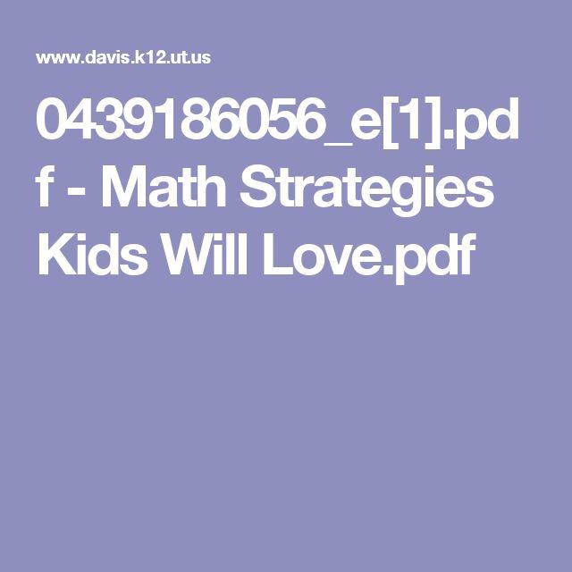 0439186056_e[1].pdf - Math Strategies Kids Will Love.pdf
