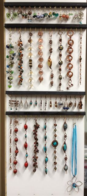 A simple but effective way to display or organize jewelry.