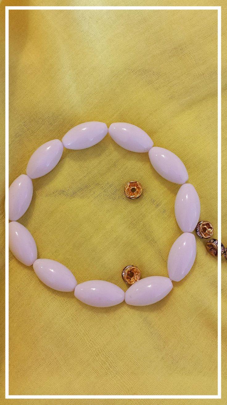 Snow quartz bracelet by BlueBirdjewel on Etsy