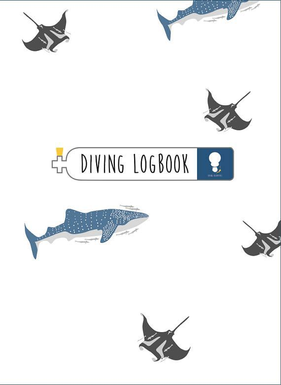 Scuba Diving Logbook for all Diver. You can buy it only 17.99$ including with clear plastic cover and paper sticker inside: https://www.etsy.com/listing/524676300/scuba-diving-logbook-for-all-diver-this?ref=shop_home_feat_1