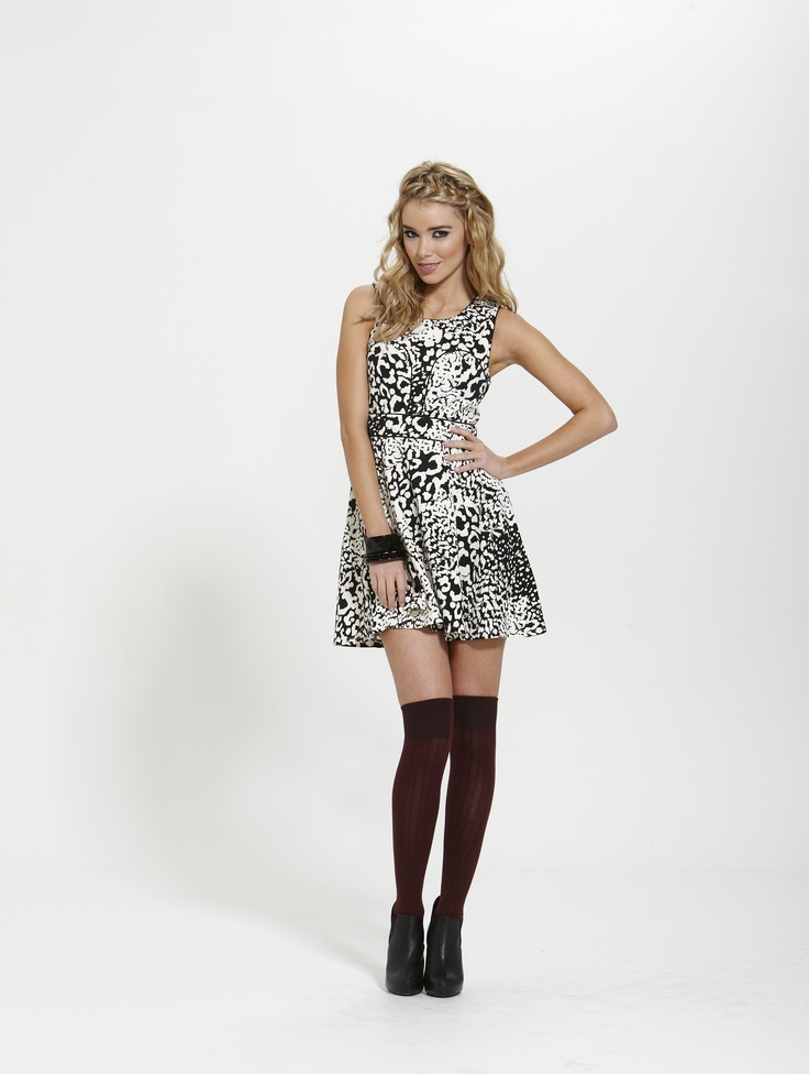 Charlotte Contrast Dress  Winter 2013  Shop Online @ http://shop.finesseboutique.co.nz/page/welcome