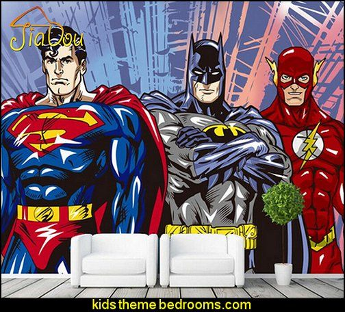 3D Mural Wallpaper Batman Superman Wallpaper Comics Photo Wallpaper Boys Kids Bedroom Living Room Home Decor Superhero