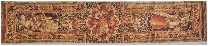 The design and images of Kourosh Fashion's shawls are paintings from the 17th Century of Qajar Dynasty. The artwork painting illustrates the era's distinct culture and intricate detail in miniture painting, each has its own narrative and event to show. Explore more Persian summer scarves at http://www.alangoo.com/kouroshfashion