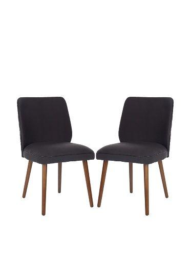 Safavieh Set Of 2 Ethel Dining Chairs (Dark Taupe)