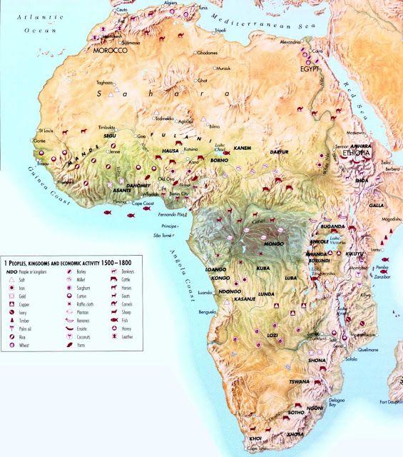 Afrika Geografiske Kort Over Afrika Dansk Encyklopaedi Africa