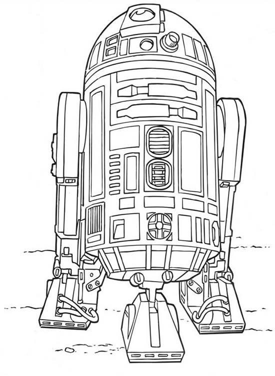 Dessins à colorier sur les personnages du film Star Wars