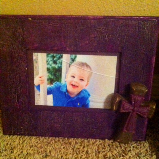 The other frame I made. I accidentally broke the glass, but maybe it'll add to the vintage look I was going for. Lol