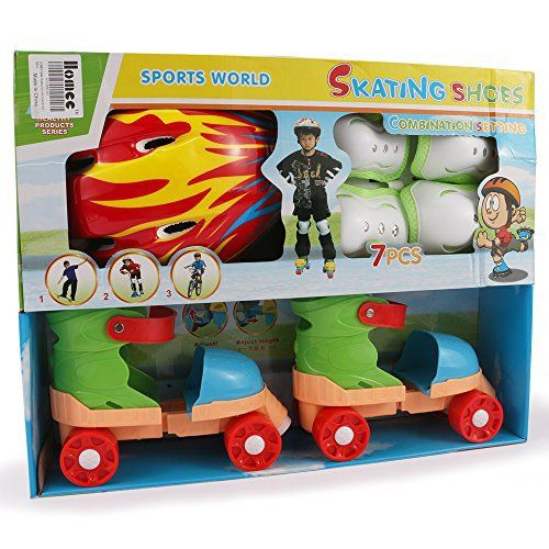 HOMEE roller skating set The roller skating set with shoes for kid with the exterior and diversity styles Our skate shoes lead the fashion trend,meet the demands of children. under the security guarantee,we added lighweight and fashion elemets to our skate shoes on product design,materials used... more details available at https://perfect-gifts.bestselleroutlets.com/gifts-for-teens/skates-skateboards-scooters/product-review-for-homee-cycling-roller-skating-set-shoes-blading-w